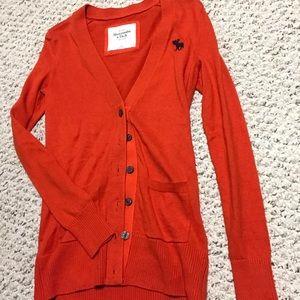 Abercrombie & Fitch orange cardigan
